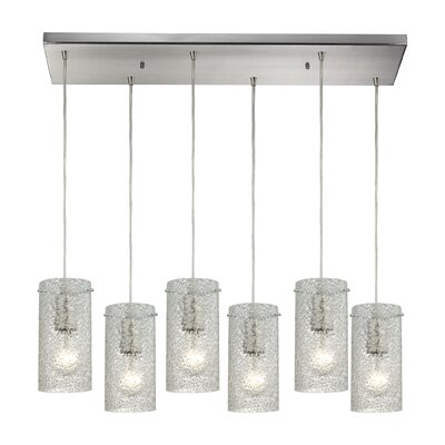 Dutchess 6-Light Kitchen Island Pendant Shade Color: Clean