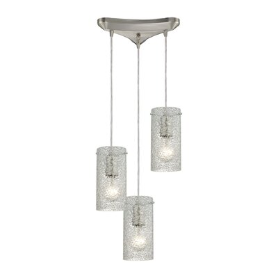 Dutchess 3-Light Cascade Pendant Shade Color: Clean