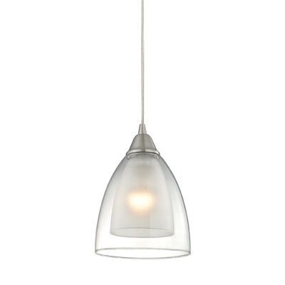 Albany 1-Light Mini Pendant Finish: Satin Nickel