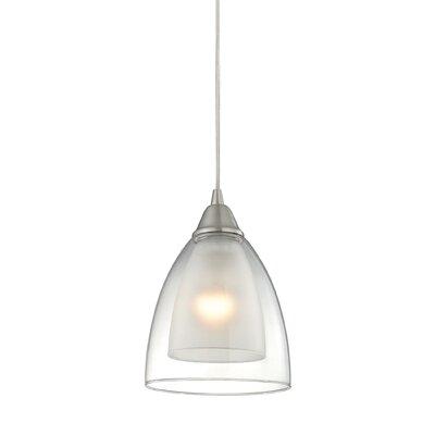 Albany 1-Light Mini Pendant Finish: Satin Nickel