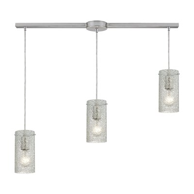Dutchess 3-Light Kitchen Island Pendant Shade Color: Clean