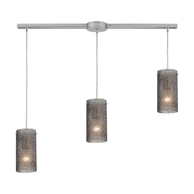 Dutchess 3-Light Kitchen Island Pendant Shade Color: Smoke