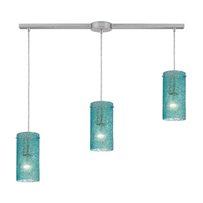 Dutchess 3-Light Kitchen Island Pendant Shade Color: Aqua
