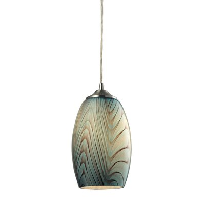 Iota 1-Light Mini Pendant Shade Color: Seafoam