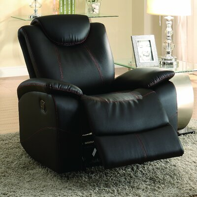 Erik Manual Wall Hugger Recliner Color: Black