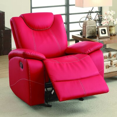 Erik Glider Recliner Color: Pink