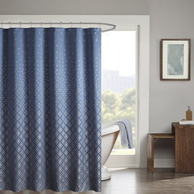 Millington Shower Curtain Color: Navy