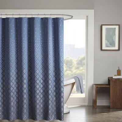Millington Shower Curtain Color: Navy