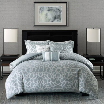 Kane 6 Piece Duvet Cover Set Size: King/Cal King, Color: Blue