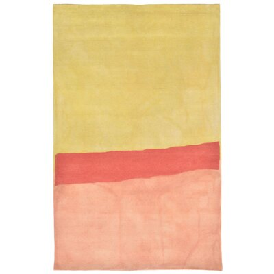 Vicente Hand-Tufted Orange Area Rug Rug Size: 36 x 56