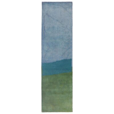 Vicente Hand-Tufted Green Area Rug Rug Size: 36 x 56