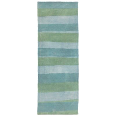 Mullican Hand-Tufted Wool Blue/Green Area Rug Rug Size: Rectangle 36 x 56