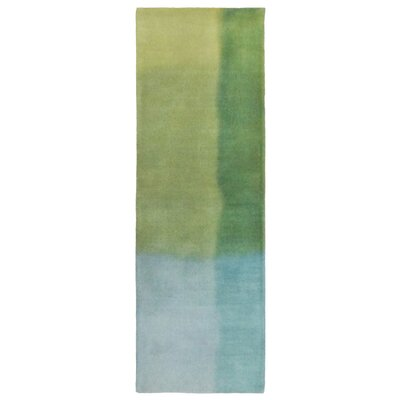 Piazza Hand-Tufted Green Area Rug Rug Size: Rectangle 5 x 8