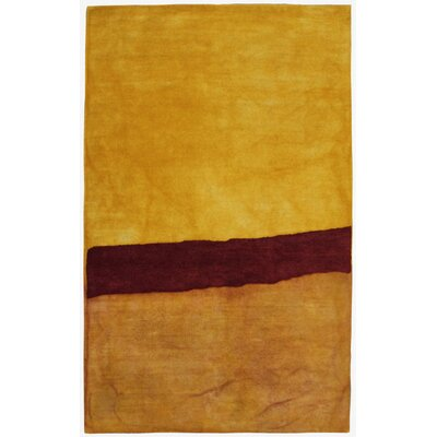 Vicente Hand-Tufted Yellow Area Rug Rug Size: 36 x 56