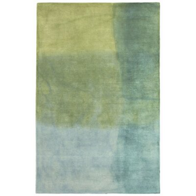 Latitude Run Vicente Hand-Tufted Green Area Rug