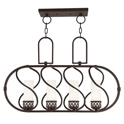 Lamb 4-Light Kitchen Island Pendant Finish: Olde Bronze