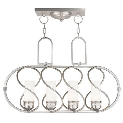 Lamb 4-Light Kitchen Island Pendant Finish: Brushed Nickel