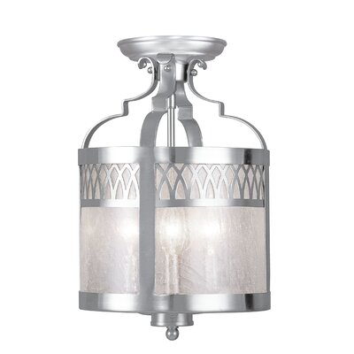 Johnstown 3-Light Convertible Drum Pendant