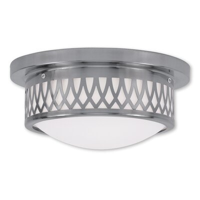 Johnstown  2-Light Flush Mount Finish: Brushed Nickel