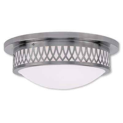 Johnstown  Flush Mount Finish: Brushed Nickel