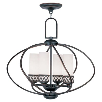 Johnstown 4-Light Globe Pendant Finish: Olde Bronze