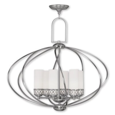 Johnstown 6-Light Globe Pendant Finish: Brushed Nickel
