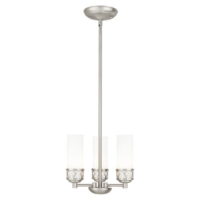 Johnstown 3-Light Mini Chandelier Finish: Brushed Nickel