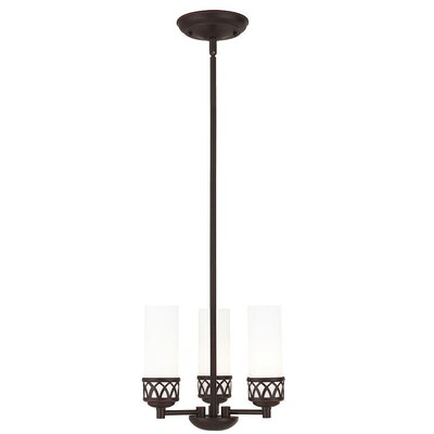 Johnstown 3-Light Mini Chandelier Finish: Bronze