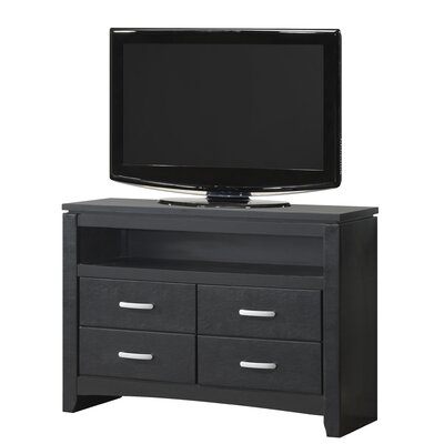 Bombay 4 Drawer Media Chest Finish: Black