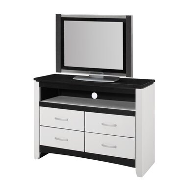 Bombay 4 Drawer Media Chest Finish: White