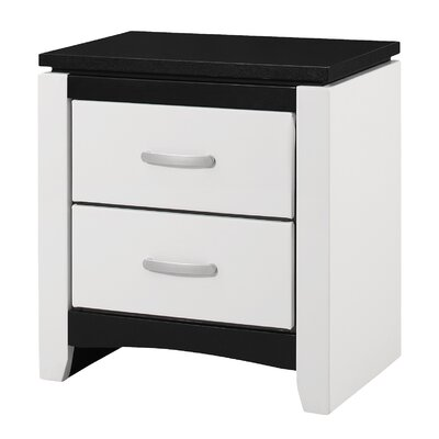 Bombay 2 Drawer Nightstand Color: White