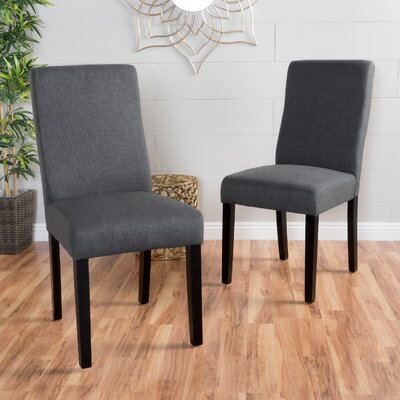 Honn Side Chair Upholstery: Dark Gray