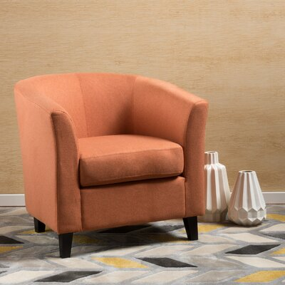 Dorset Barrel Chair Upholstery: Orange