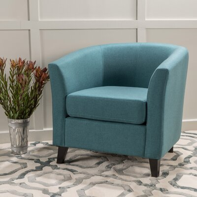 Dorset Barrel Chair Upholstery: Dark Teal