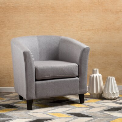 Dorset Barrel Chair Upholstery: Light Gray