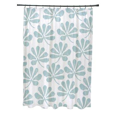 Velasquez Shower Curtain Color: Aqua