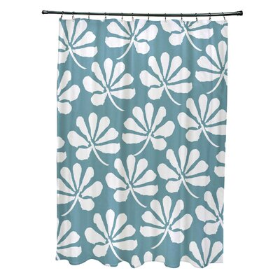 Velasquez Shower Curtain Color: Aqua
