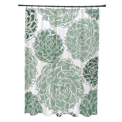 Velasquez Shower Curtain Color: Green