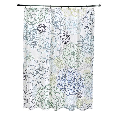 Velasquez Shower Curtain Color: Navy Blue