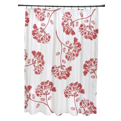 Velasquez Shower Curtain Color: Orange