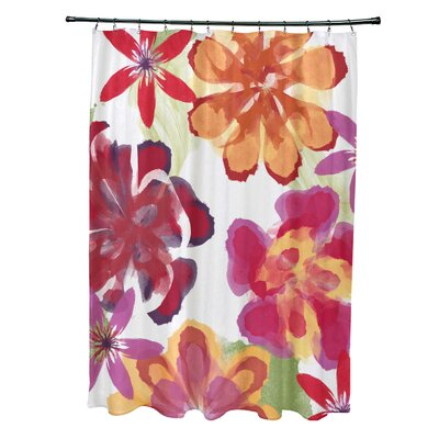 Velasquez Shower Curtain Color: Red