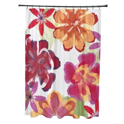 Velasquez Shower Curtain Color: Red