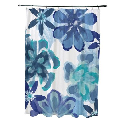 Velasquez Shower Curtain Color: Blue