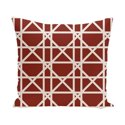 Marissa Trellis Geometric Print Outdoor Throw Pillow Size: 18