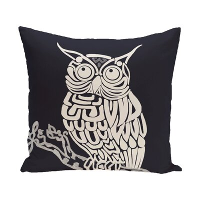 Lynn Animal Print  OutdoorThrow Pillow Size: 18 H x 18 W, Color: Navy Blue