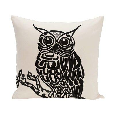 Lynn Animal Print  OutdoorThrow Pillow Size: 18 H x 18 W, Color: Off White - Black