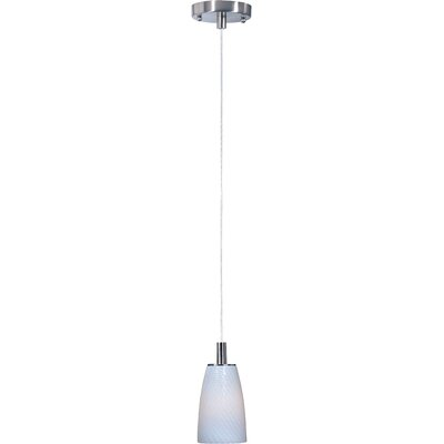 Pegasi LED 1-Light Pendant Finish: Satin Nickel, Shade Color: White