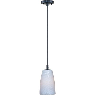Pegasi LED 1-Light Pendant Finish: Bronze, Shade Color: White