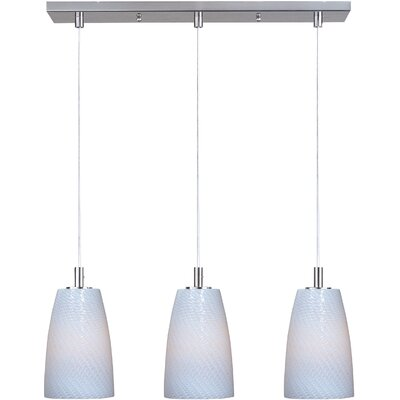 Pegasi LED 3-Light Pendant Finish: Satin Nickel, Shade Color: White