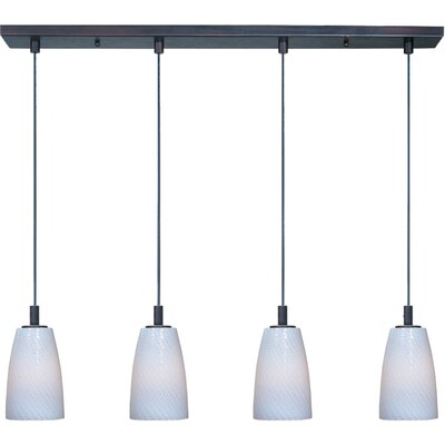 Pegasi LED 4-Light Pendant Finish: Bronze, Shade Color: White